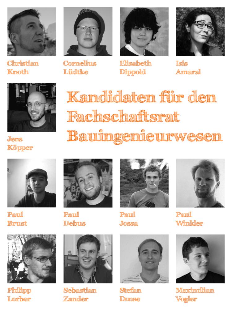 Kandidaten FsR Bauingenieurwesen