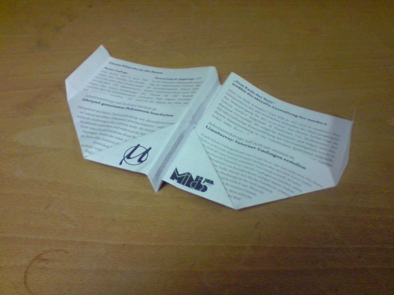 mini.micro-Papierflieger