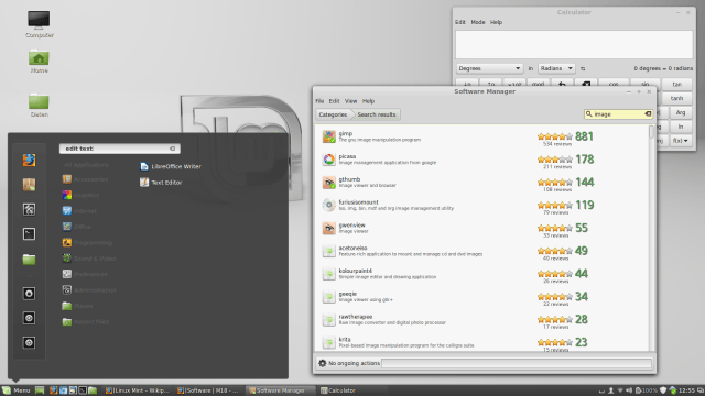 Screenshot von Linux Mint 17